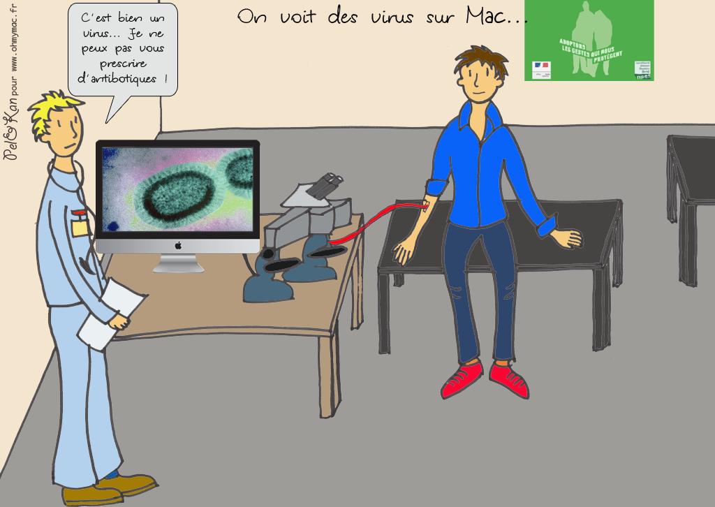 le dessin du week end on voit bien des virus sur mac ohmymac. Black Bedroom Furniture Sets. Home Design Ideas