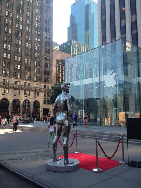 David Beckham à l'Apple Store de New York