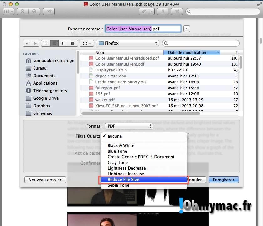 Ohmymac Réduire la taille d'un PDF