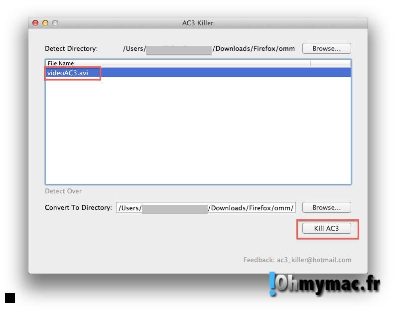 Ohmymac Codec audio AC3 sur iPad et iPhone: comment retrouver le son de la piste audio