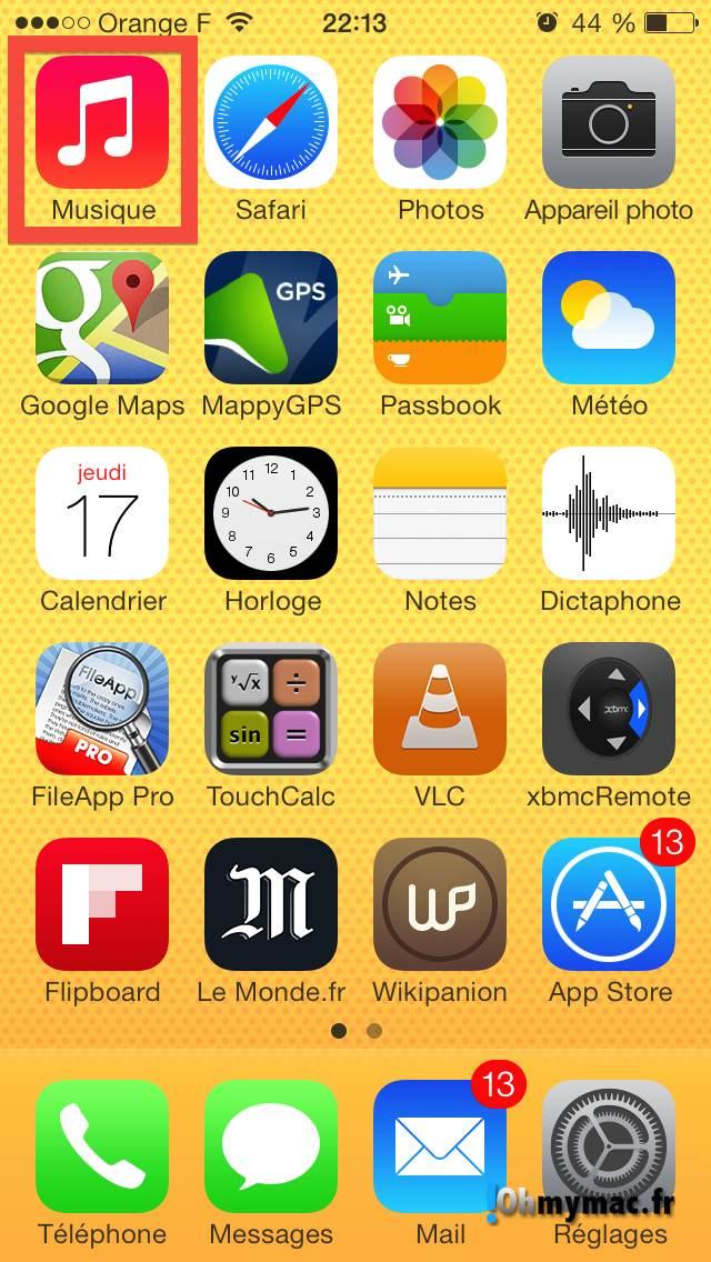 Comment enlever les morceaux iCloud de l'application Musique ? 01