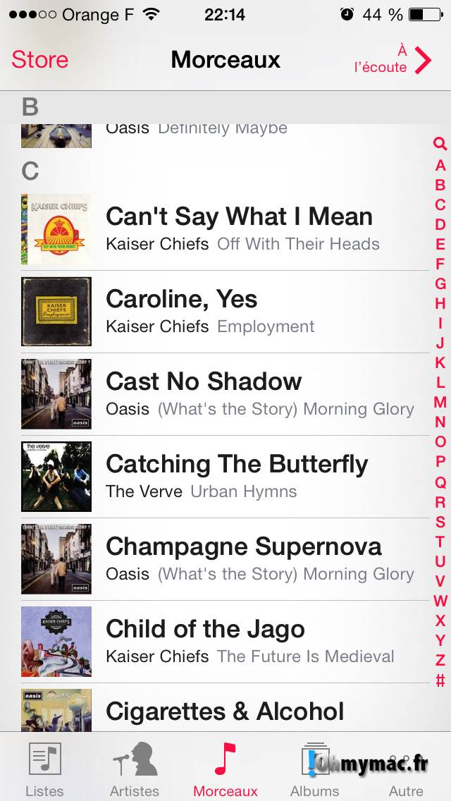 Comment enlever les morceaux iCloud de l'application Musique ? 08
