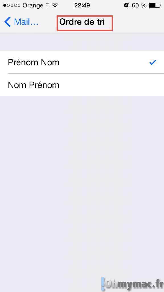 Comment classer les contacts par ordre alphabétique sur iphone