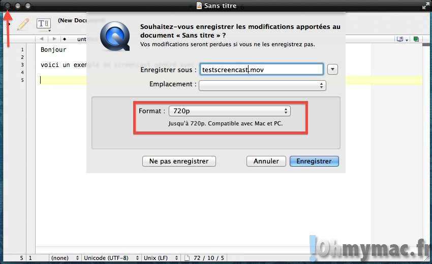 Réaliser un screencast avec Quicktime Player sur son Mac