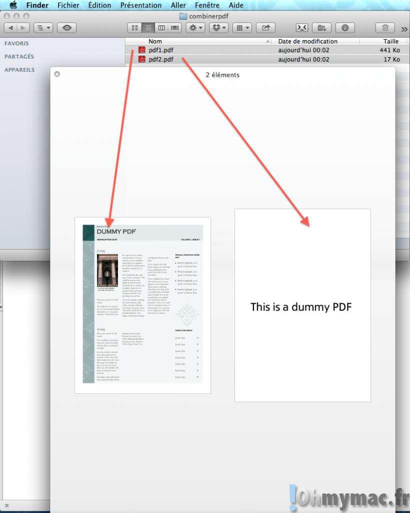 faire de plusieurs pdf un seul mac