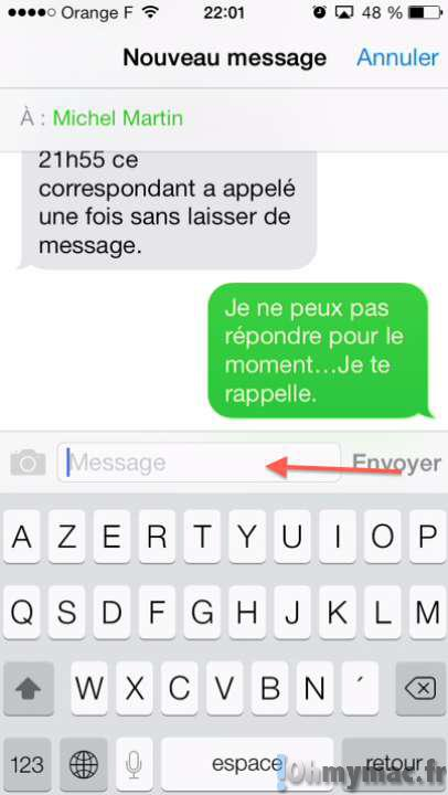Bloquer Contact Iphone Message