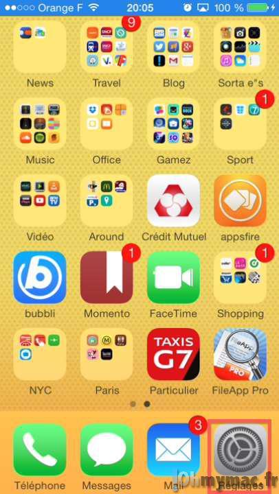 Comment ranger les ic nes de l 39 cran d 39 accueil de l 39 iphone - Comment faire apparaitre les icones sur le bureau ...