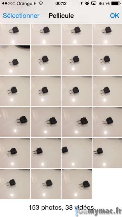 Utiliser le mode rafale de l'iPhone ou de l'iPad pour prendre des photos successives