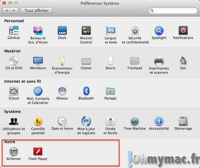 Organiser les Préférences Système du Mac