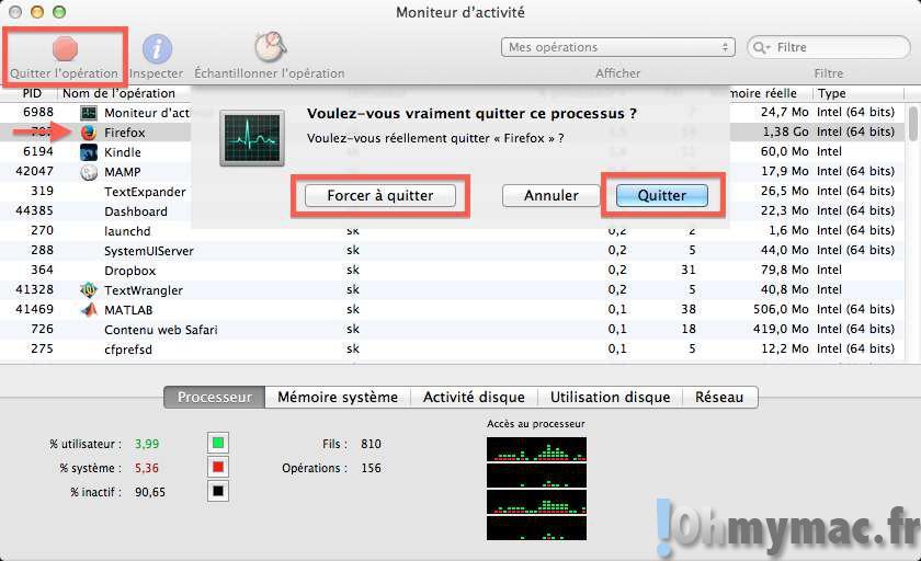 Repérer les applications qui ralentissent votre Mac et les stopper