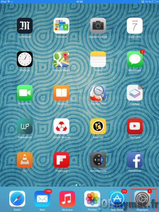 Changer le fonctionnement du bouton latéral de l'iPad