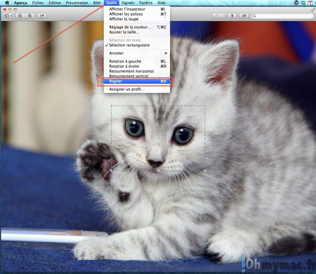 Rogner et recadrer une photo sur son Mac