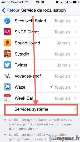 enlever service de localisation iphone 8 Plus