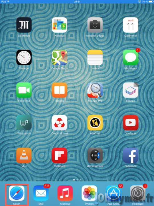 Rouvrir un onglet récemment fermé avec Safari sur iPad