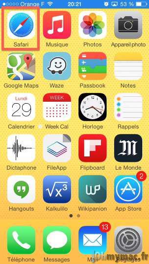 Safari iOS: revenir rapidement en haut d'une page web sur iPhone ou iPad