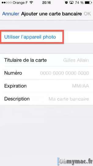 iOS 8: enregistrer une carte bancaire et l'utiliser avec l'auto-remplissage de Safari sur iPhone/iPad