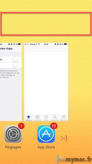 iOS 8: enlever les icônes de contacts favoris et d'appels récents du menu multitâche sur iPhone/iPad