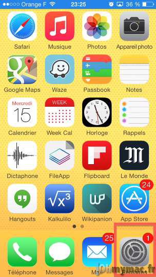 iOS 8: passer son écran en noir et blanc (nuances de gris) sur iPhone/iPad