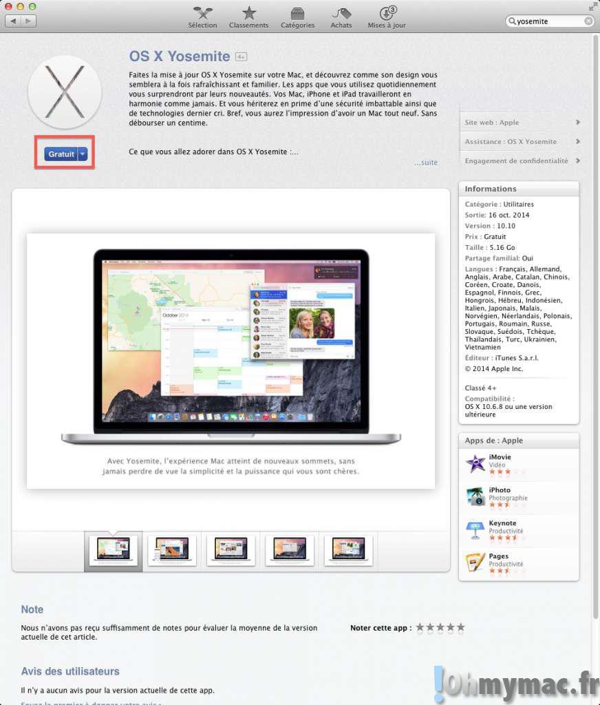 10.6.8 GRATUITEMENT MAC OS X TÉLÉCHARGER FACETIME POUR