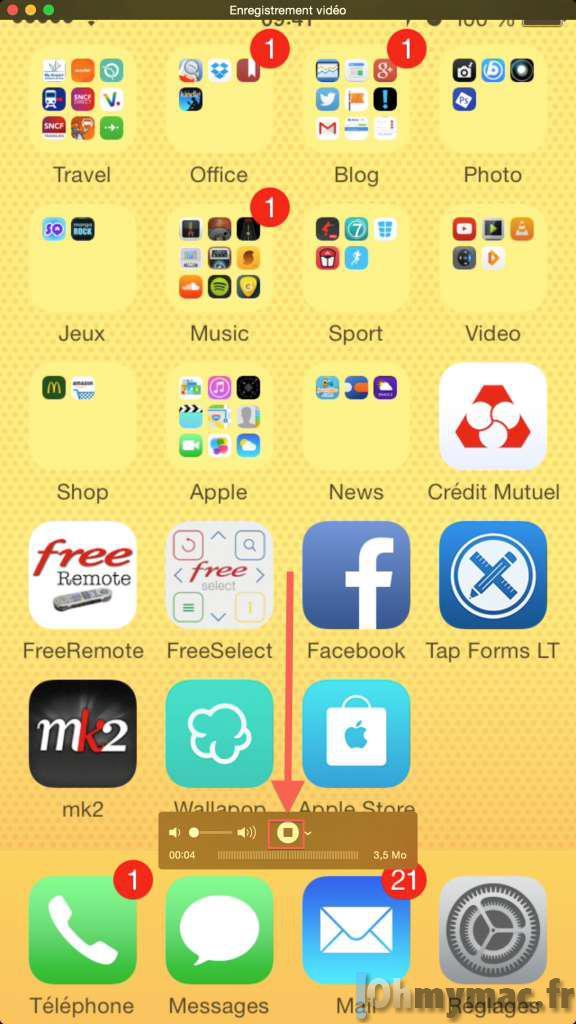 iOS 8 et OS X Yosemite: capturer l'écran de iPhone/iPad en vidéo ou en image sur votre Mac
