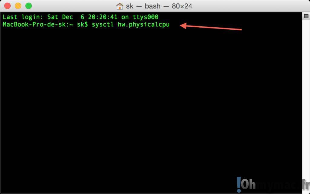 Trouver le nombre de coeurs physiques et logiques de son processeur sur son Mac