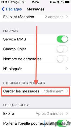 Supprimer automatiquement vos anciens messages (SMS, MMS ou iMessages) sur iPhone et iPad