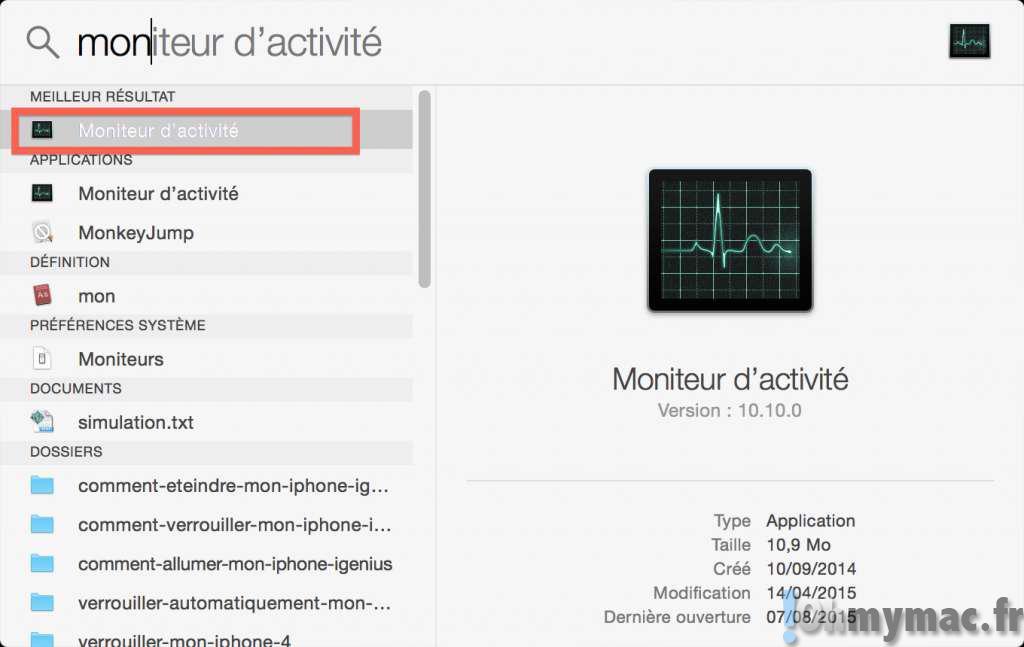 Afficher la charge processeur de tous les coeurs du processeur de votre Mac