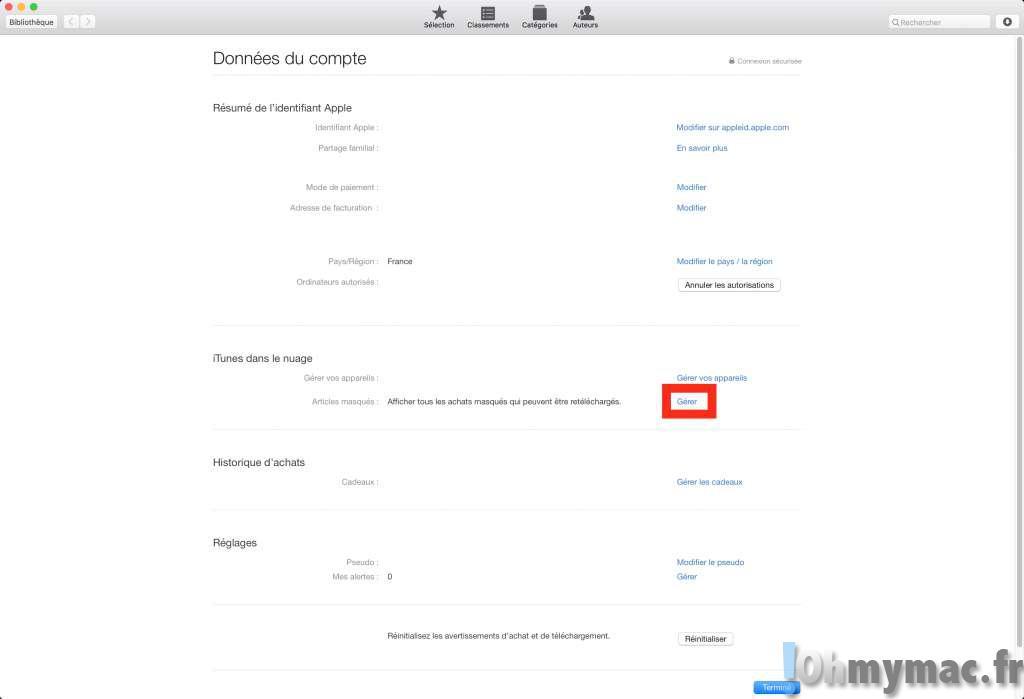 Supprimer ou masquer les livres ibooks sur mac et iphone ipad ohmymac - Les 3 suisses mon compte ...