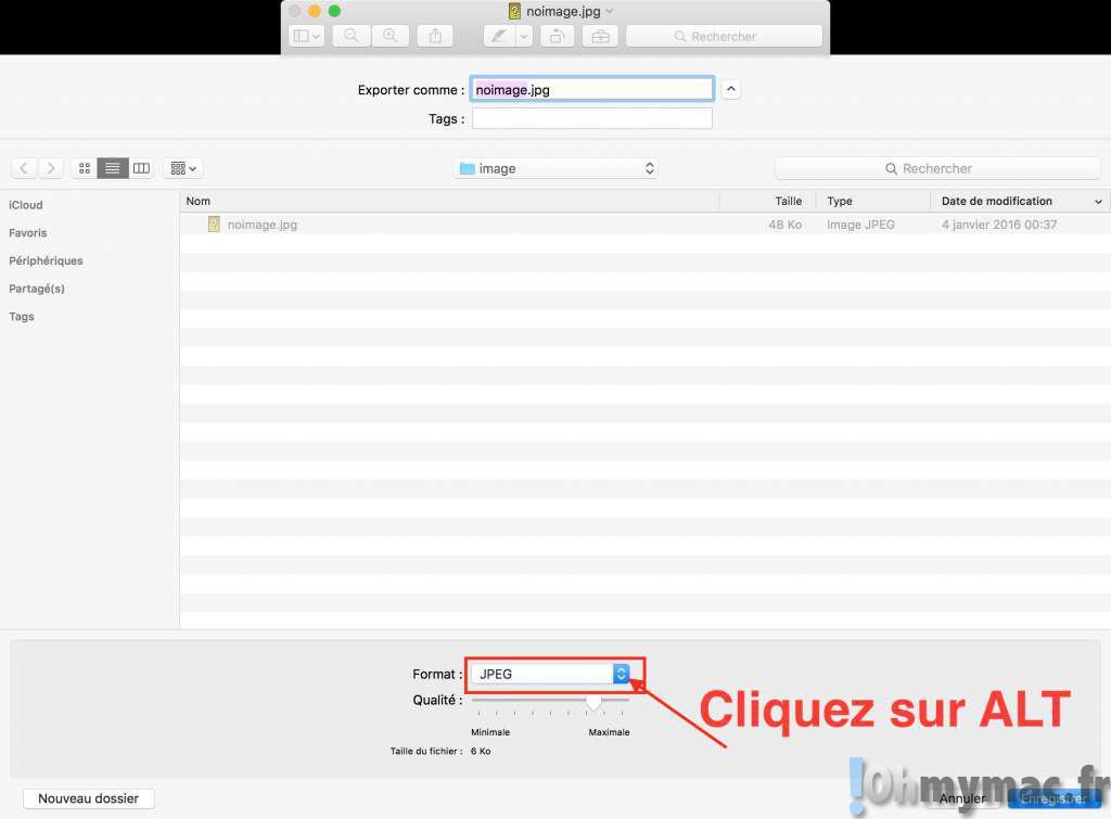 apercu GIF icns: Enregistrer une image au format GIF, icône Mac (ICNS), icône Windows (ICO), photoshop (PSD), etc avec Apercu Mac
