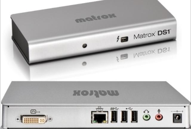 Transformer votre MacBook en ordinateur de bureau avec le dock Matrox thunderbolt