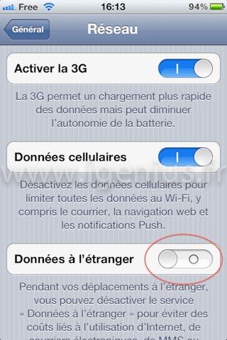 Comment être sur que l'iPhone ne se connecte pas à internet à l'étranger ? (iGenius)