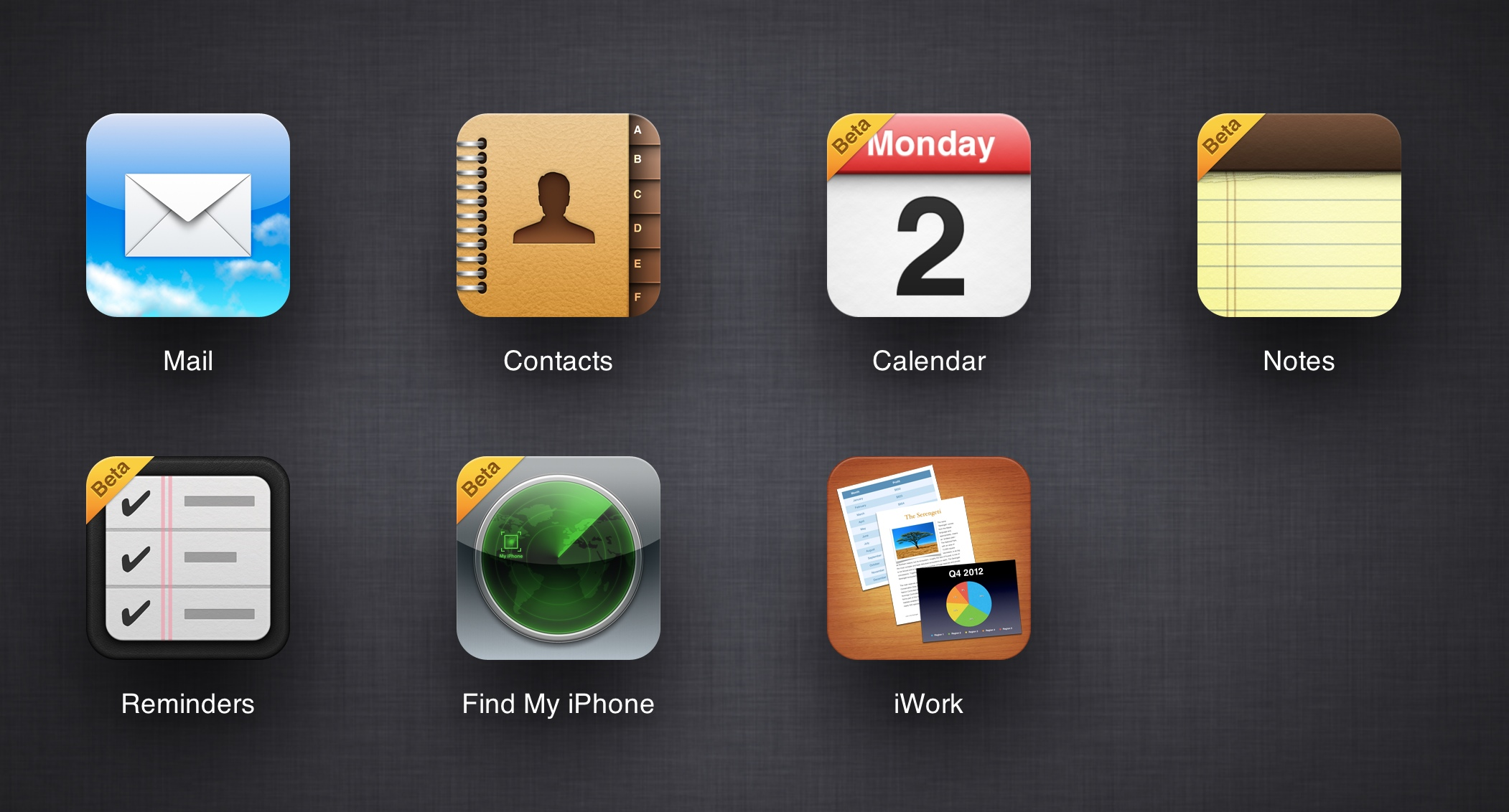 De nouvelles applications iCloud: Notes et Rappels