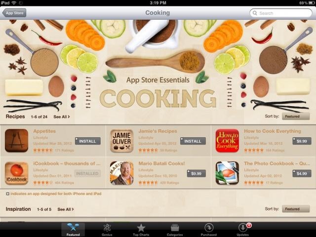 Apple va ajouter une nouvelle catégorie à l'App Store pour la cuisine et la gastronomie