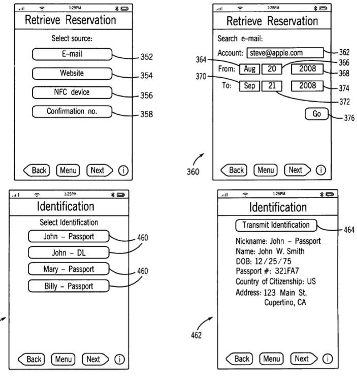 Apple remporte un brevet sur un concept de billet électronique avec NFC appelé iTravel