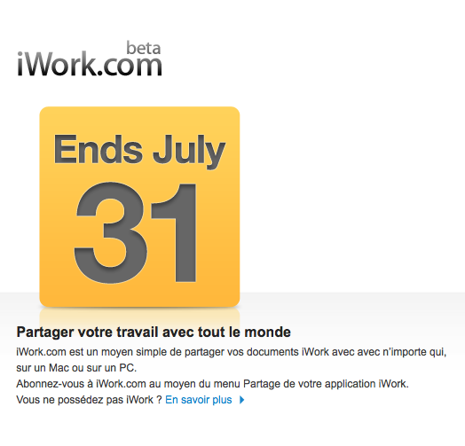 Après MobileMe, iWork.com ferme: sauvegardez vos documents !