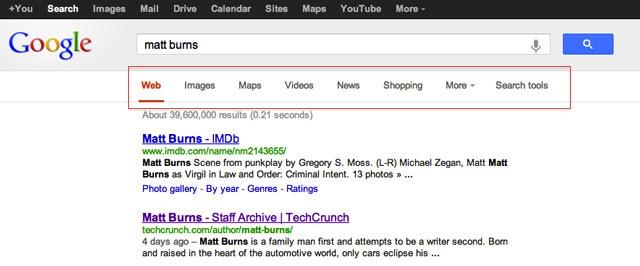 Google: remodelage de l'interface de recherche en cours
