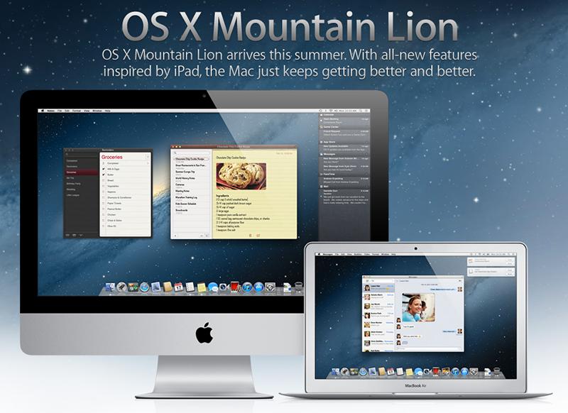 Apple demande aux développeurs de soumettre leurs applications pour Mountain Lion