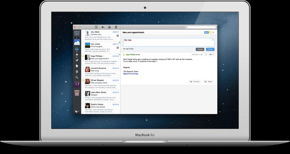 Sparrow pour Mac mis à jour: compatibilité Retina et Mountain Lion sont de la partie