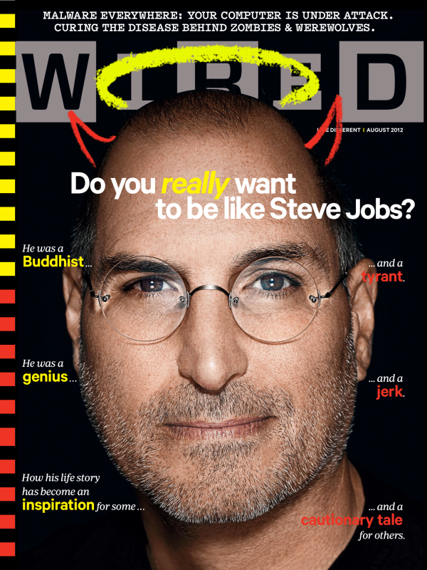 Steve Jobs en couverture de Wired