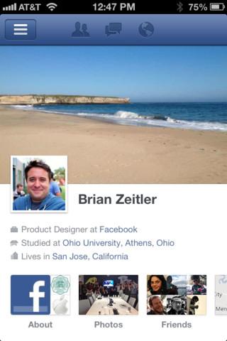 Facebook: une toute nouvelle application pour iOS