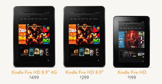 Amazon dévoile les nouveaux Kindle Fire HD et Kindle Paperwhite
