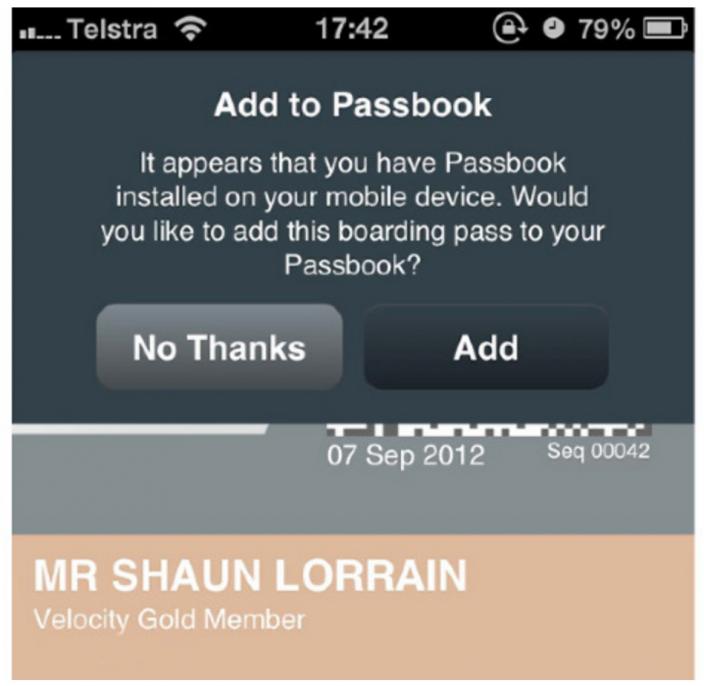 iOS 6: les compagnies aériennes expérimentent Passbook