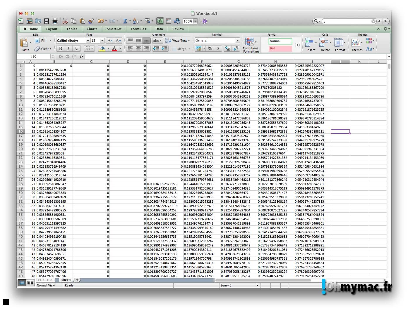 Ohmymac Séparateur décimal sur Excel 2011 Mac 06