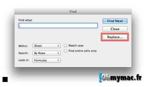 Ohmymac Séparateur décimal sur Excel 2011 Mac 07