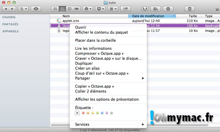 Ohmymac Trasformer un AppleScript en Application 15
