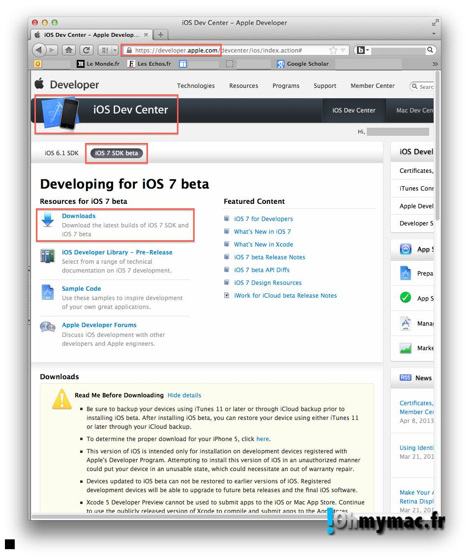 Ohmymac iOS 7 Beta: guide d'installation détaillé 01
