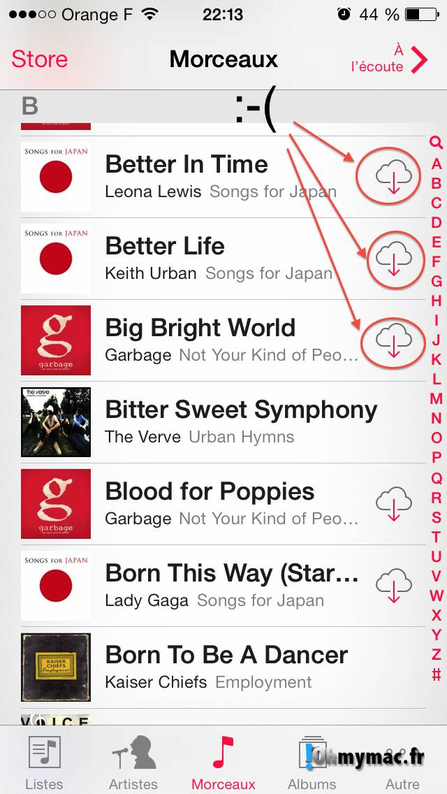 Comment enlever les morceaux iCloud de l'application Musique ? 02