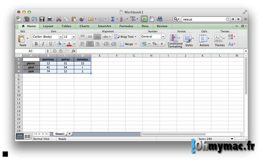 Excel Mac: copier ou exporter un tableau comme une image 03