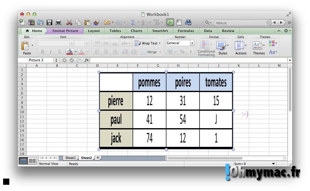 Excel Mac: copier ou exporter un tableau comme une image 09