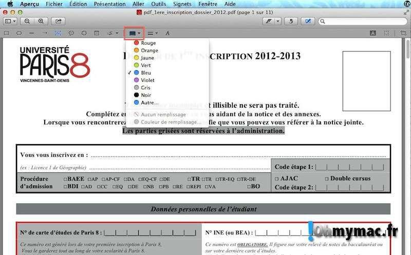 Comment modifier ou éditer un pdf comme un formulaire sur son Mac